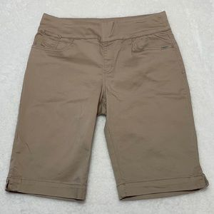 FDJ Tan Knee Length Elastic Waist Summer Shorts